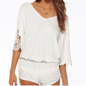 L*SPACE Mali Ivory Beach/Swim Romper